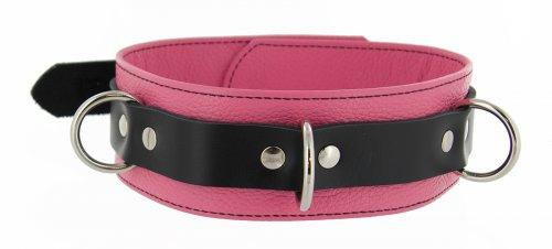 Tri Ring Locking Leather Pink Collar