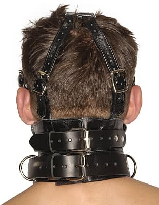 Blindfold Muzzle Gag rear view