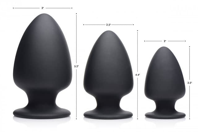 Ultra Flexible Butt Plug Sizes and Dimensions