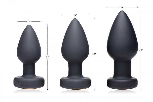 LED Light Show Anal Plug Sizes