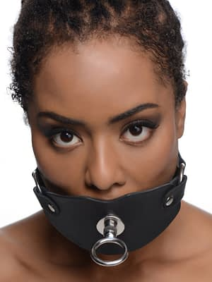 Eyelet Ball Gag With Female Model