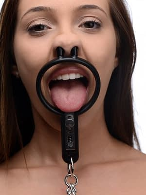 Degraded Mouth Spreader with Nipple Clamps With Model