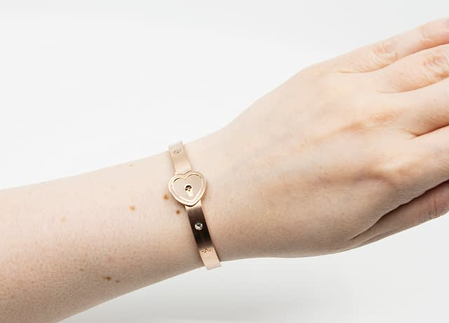 Forever Mine Submissive Bracelet Rose Gold With Model