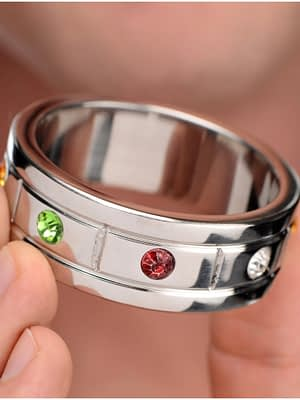 Jeweled Cock Ring With Model