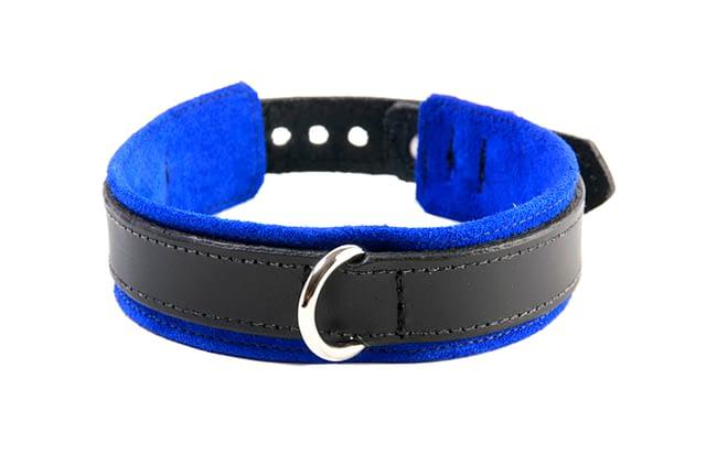 BDSM Slave Collar Blue