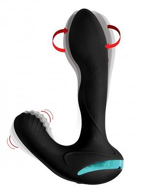 Rotating Vibrating Silicone Prostate Stimulator Demo
