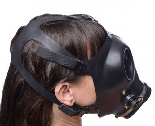 Genuine Gas Mask Back View