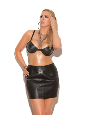 Leather Spanking Skirt X