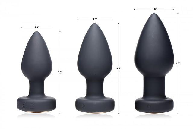 LED Light Show Anal Plug Sizes