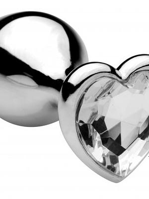 Melted Heart Jeweled Anal Plug