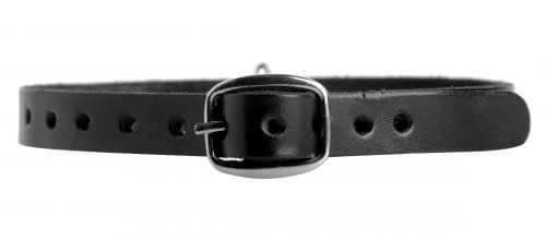 Leather Choker with O-Ring Back