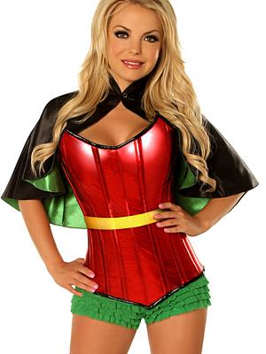 Superhero Sidekick Premium Corset Costume