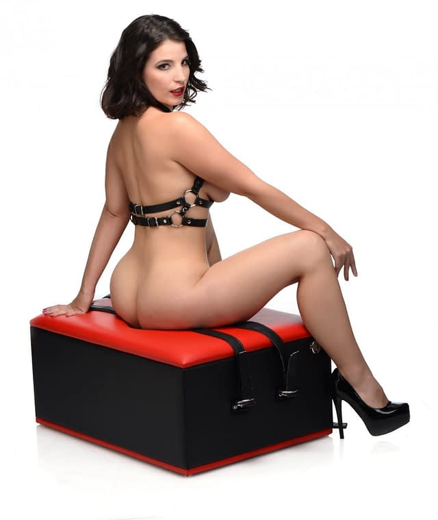 Red Hot Queening Chair Side View With Model