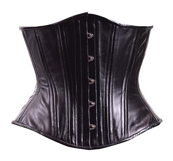 midnight leather corset
