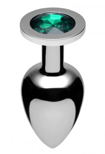 Jeweled Butt Plug Emerald Large
