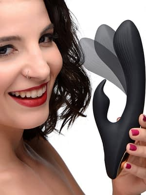 Bendable Silicone Rabbit Vibrator With Model