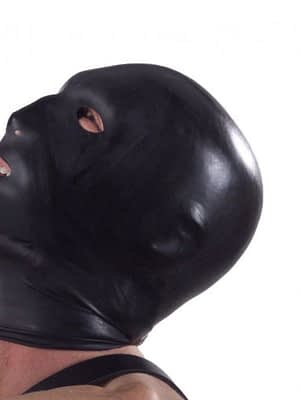 Latex Hood with Eye Mouth and Nose Holes