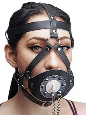 Plug Your Hole Head Harness Gag