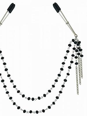 Black Jeweled Nipple Clips