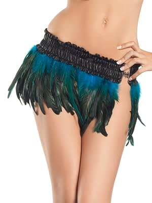 Exotic Feathers Skirt Turquoise