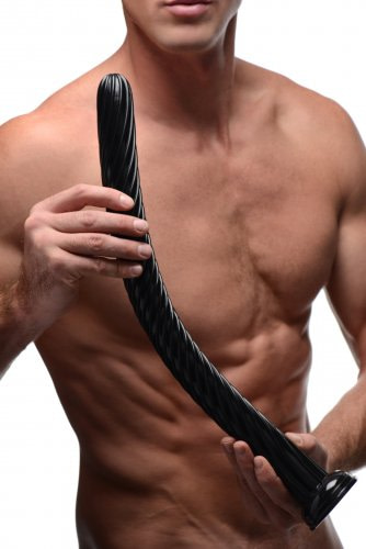 19 Inch Hosed Dildo With Male Model