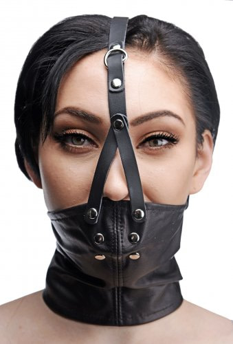 Corset Neck Harness with Stuffer Gag Front View