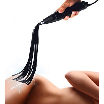 Electric Flogger Silicone eStim Attachment With Model