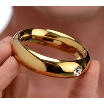 Kings Crowned Cock Ring With Model