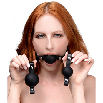 Interchangeable Silicone Ball Gag Set With Model