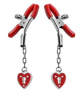 Captive Heart Nipple Clamps