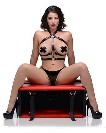 Red Hot Queening Chair With Model
