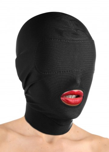 Hood with Padded Blindfold And Mouth Hole