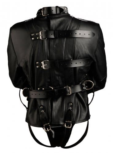 Premium Leather Straightjacket Back View