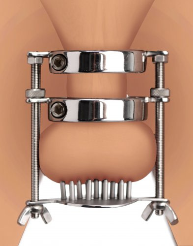 Stainless Steel Spiked CBT Ball Stretcher and Crusher Demo
