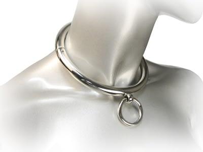 Rolled Steel Slave Collar Worn