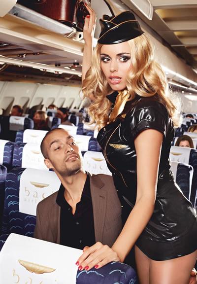 Black Stewardess Costume