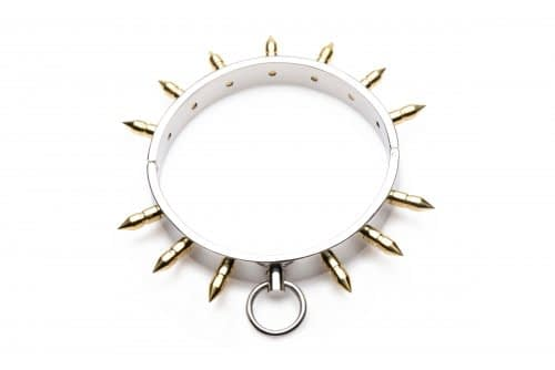 Spiked Locking Slave Collar Top