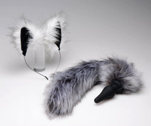 Grey Wolf Ears & Tail Set