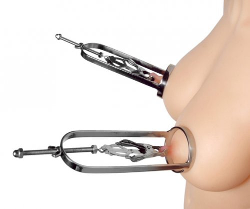 Japanese Clover Clamp Nipple Stretcher Double Demo