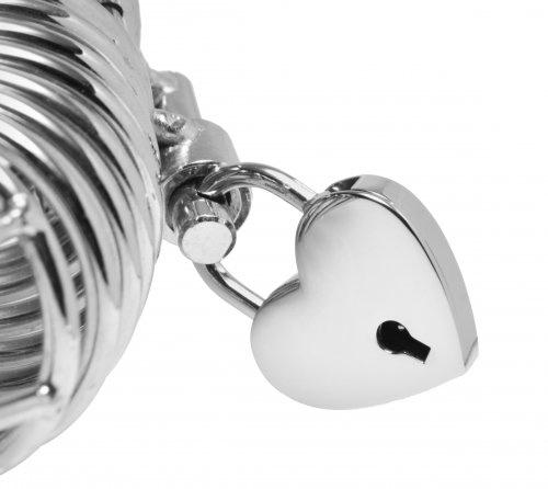 Heart Shaped Padlock Close Up
