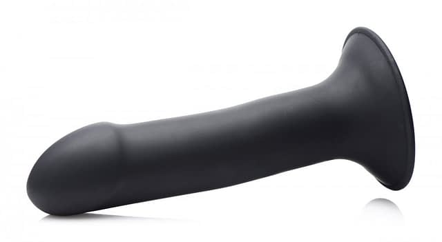 Ultra Flexible Dildo Black Side View