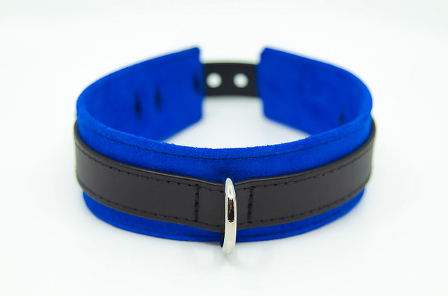 Large & Incharge Submissive Training Collar Blue