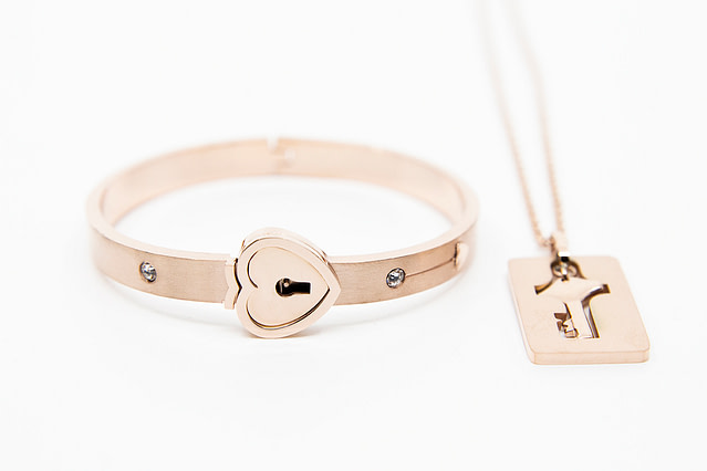 Forever Mine Submissive Bracelet Rose Gold