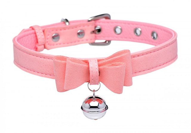 Kitty's Pink Bell Collar