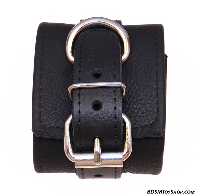 Classic Leather Cuffs Close Up Of Buckle