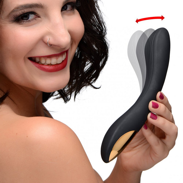 Bendable Silicone Vibrator With Model