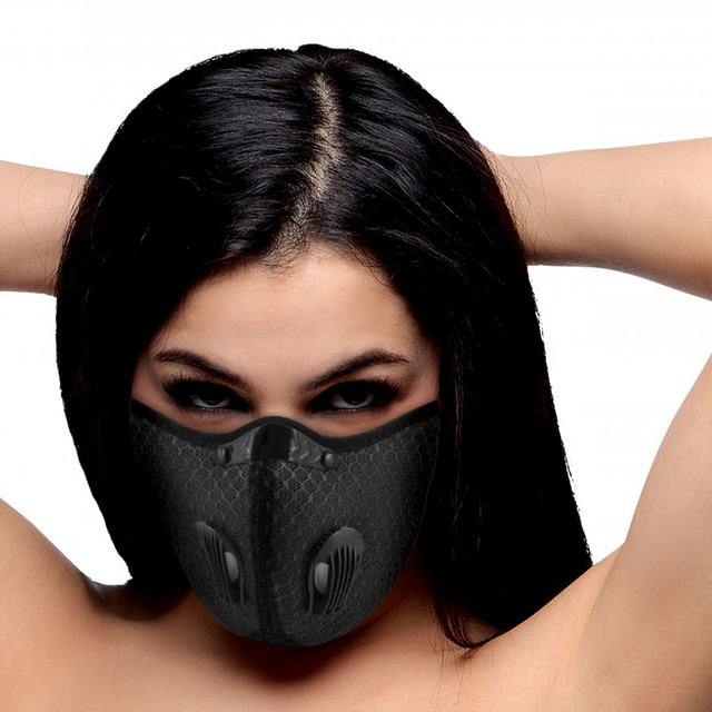 Filtered Face Mask With Female Model