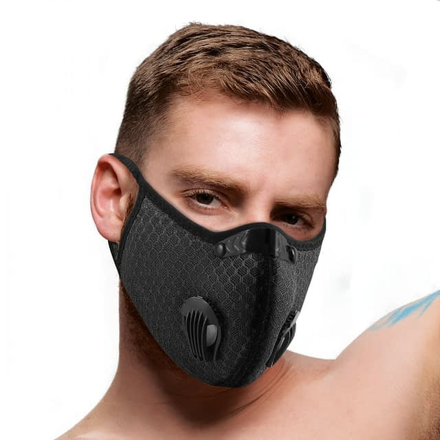 Filtered Face Mask With Male Model