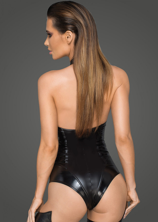 Electric Eco-Leather Body Suit Back
