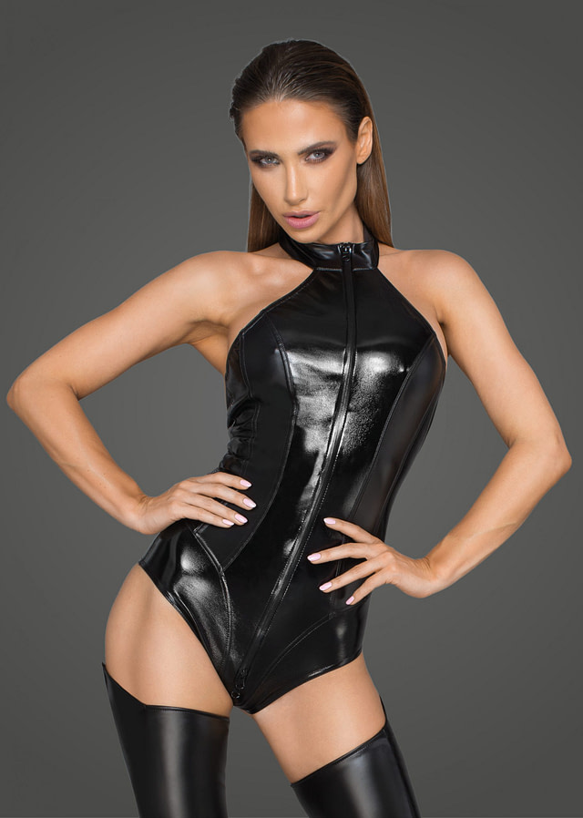 Electric Eco-Leather Body Suit